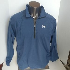 Under Armour 1/4 Zip Long Sleeve Blue Large